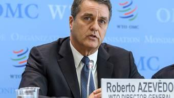 Der Chef der Welthandelsorganisation WTO, Roberto Azevêdo, wiederholt die Vorzüge des Welthandels stets von Neuem. (Archivbild)