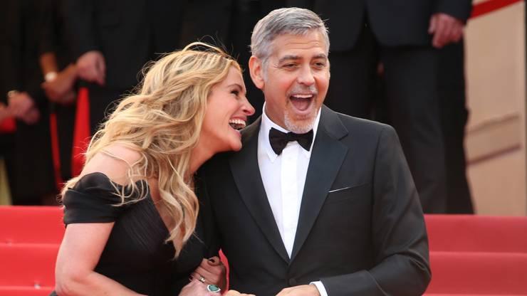 Oder hier. Mit Best-Buddy George Clooney.
