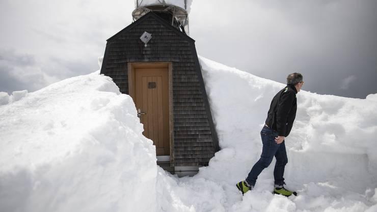 Rekordschnee auf dem Säntis in Hundwil – aufgenommen am 17. Mai.