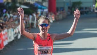 Martina Strähl ist zufrieden mit dem Rennen. (Archiv)