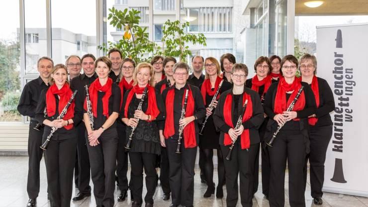 Die Klarinettisten des Klarinettenchor Wettingen freuen sich auf die bevorstehenden Konzerte