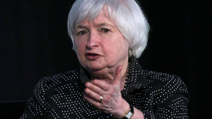 Janet Yellen am Freitag an der Harvard University in Cambridge.