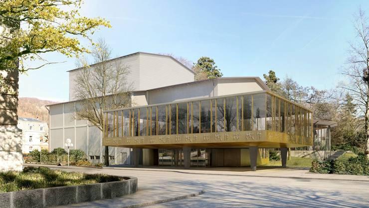 So soll sich das Kurtheater nach dem Faceliftung ab Herbst 2016 präsentieren.