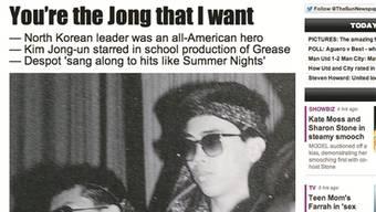 Kim Jong Un (r.) während des Musicalauftritts.