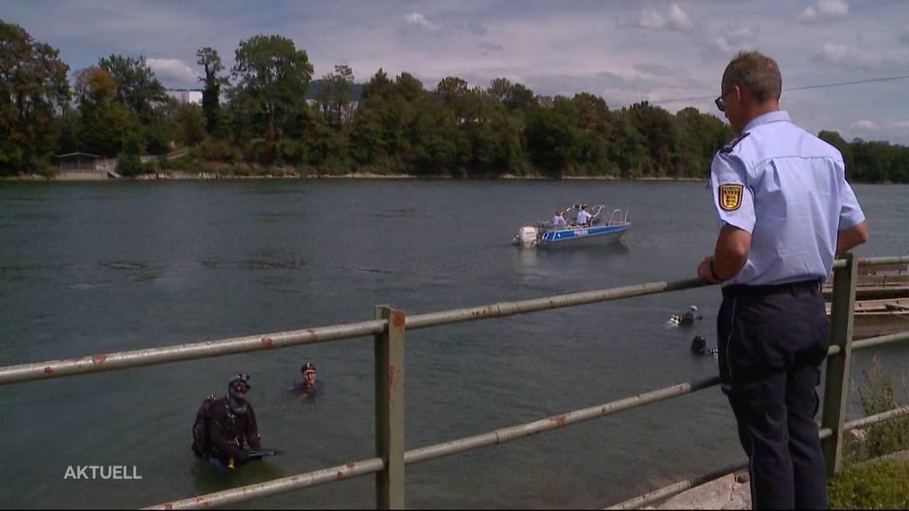 Grossaufgebot sucht nach zwei verschwundenen Männern im Rhein