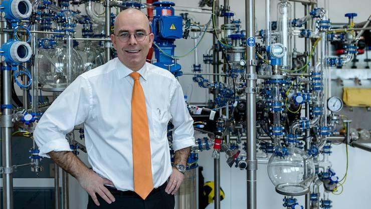 Mit dem neuen Laborgebäude, das heute eröffnet wird, schafft Markus Blocher in Dottikon rund 100 neue Arbeitsplätze.