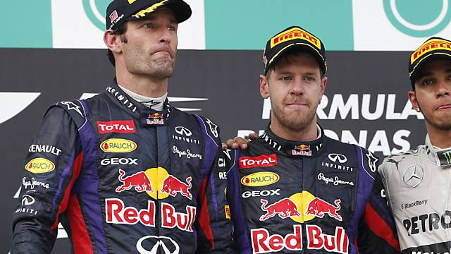 Mark Webber (links) und Sebastian Vettel: Freunde werden sie nie.