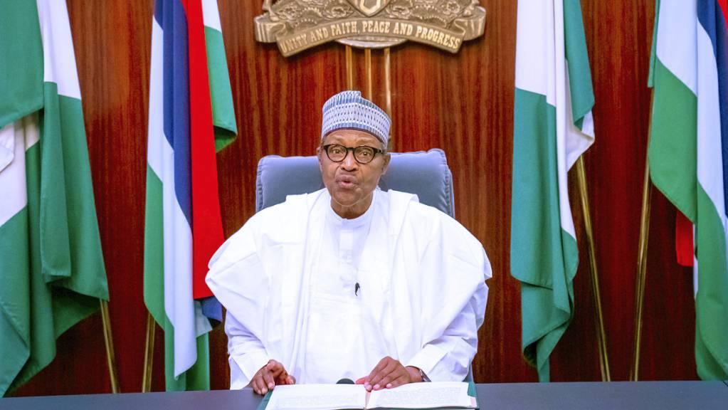ARCHIV - Präsident Muhammadu Buhari hat angeordnet, den Zugang zum Kurznachrichtendienst Twitter wiederherzustellen. Foto: Bayo Omoboriowo/Nigeria State House/dpa - ACHTUNG: Nur zur redaktionellen Verwendung und nur mit vollständiger Nennung des vorstehenden Credits