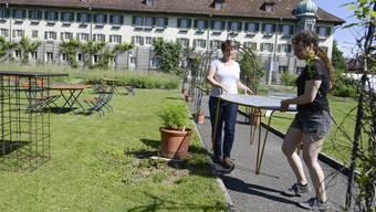 Vorbereitung zur 1. Ausgabe von «Natürlich im Chloschter» in Solothurn