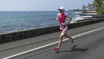 Daniela Ryf im Vorjahr bei ihrem dritten Triumph auf den ersten Marathon-Kilometern der Ironman-WM auf Hawaii