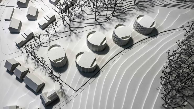 «Unkonventionell und mutig»: Das neue Buechloch-Projekt sieht fünf ovale Gebäude mit je drei Stockwerken vor.