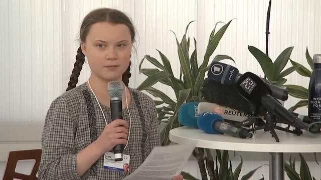 Greta Thunberg protestiert auch am WEF