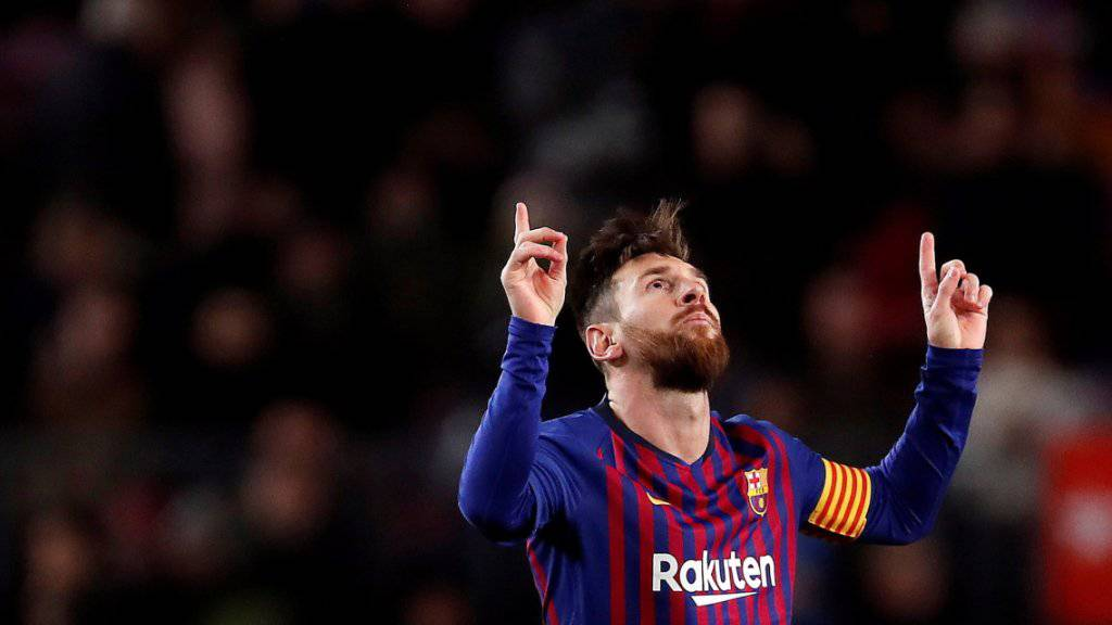 Lionel Messi rettete dem FC Barcelona mit zwei Toren einen Punkt gegen Valencia