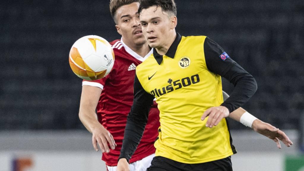 Fabian Rieder, der Youngster im Mittelfeld von Meister YB, hier im Europa-League-Heimspiel gegen ZSKA Sofia