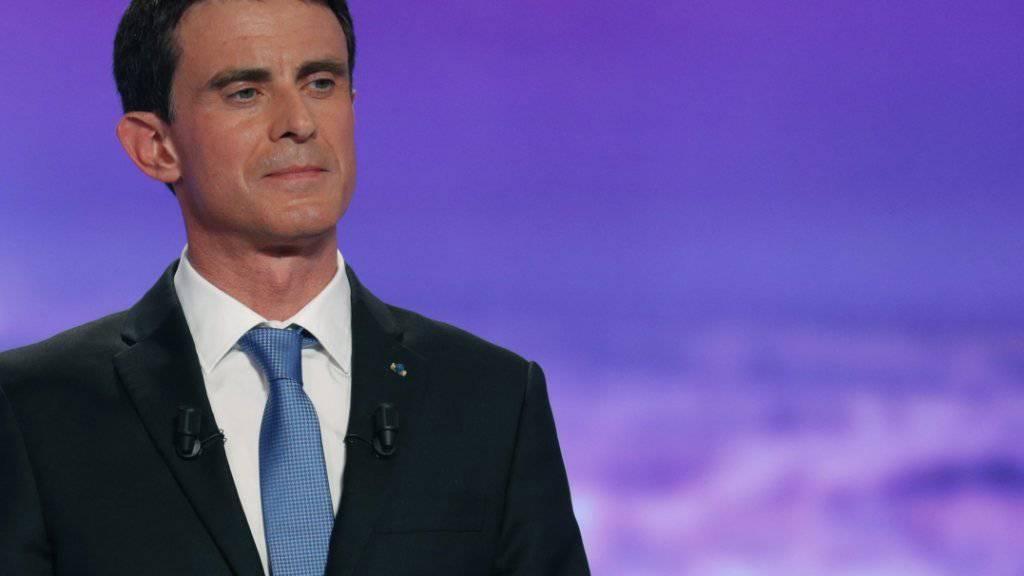 Ex-Premierminister Valls will für die Partei des künftigen französischen Präsidenten Macron bei der Parlamentswahl antreten. Doch diese findet, Valls erfüllte die Kriterien für eine Kandidatur zurzeit nicht. (Archiv)