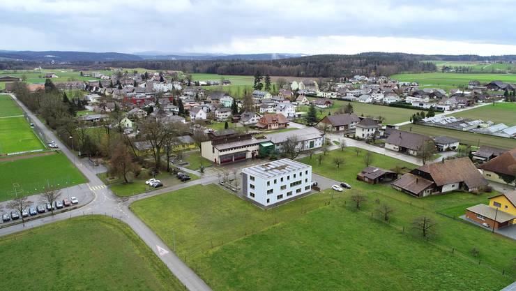 Luftbild von Härkingen.