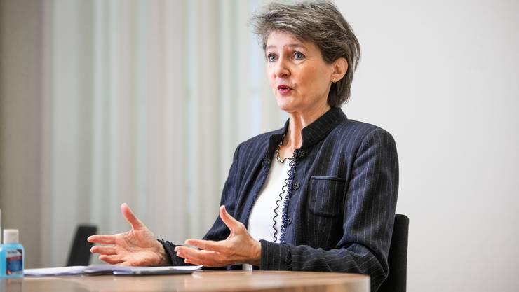 """Es gab emotionale Diskussionen im Bundesrat"", sagt Simonetta Sommaruga."