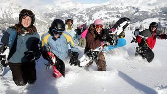 Viele Schneesportlager von Schulen im Bezirk Baden sind ausgebucht. Keystone