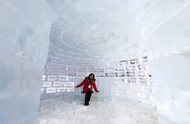Warm anziehen! Nicht nur im Iglu wird es eisig kalt in Pyeongchang.