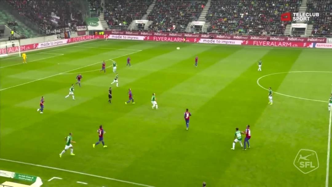 FC St.Gallen - FC Basel - Boris Babic , 4. Minute (6.10.19)