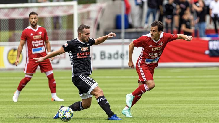 Kurz vor Schluss kommt es zur Aufholjagd, dennoch scheitert der FC Baden letztlich an den Innerschweizern.
