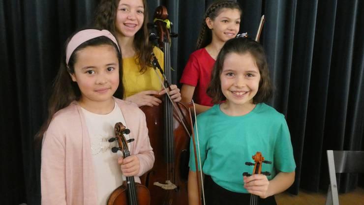 Der21. musikalischer Förderwettbewerb Prix Rotary fand im Chapf Schulhaus in Windisch statt.Coriandoli-Quartett. 1. Preis Kategorie Ensemble.