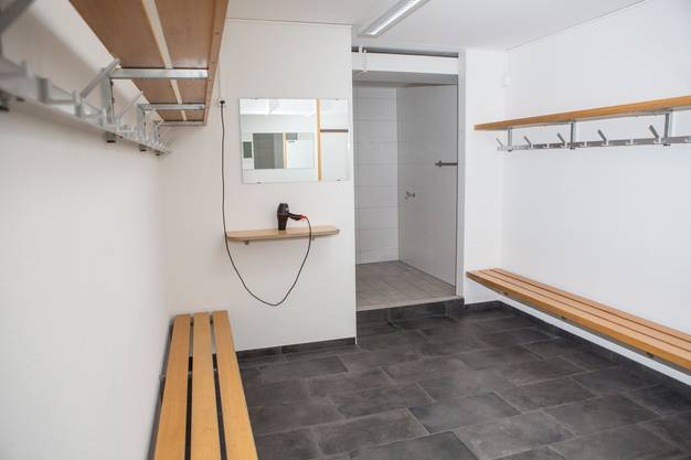 Die Garderoben und Duschen wurden funktionsgerecht saniert