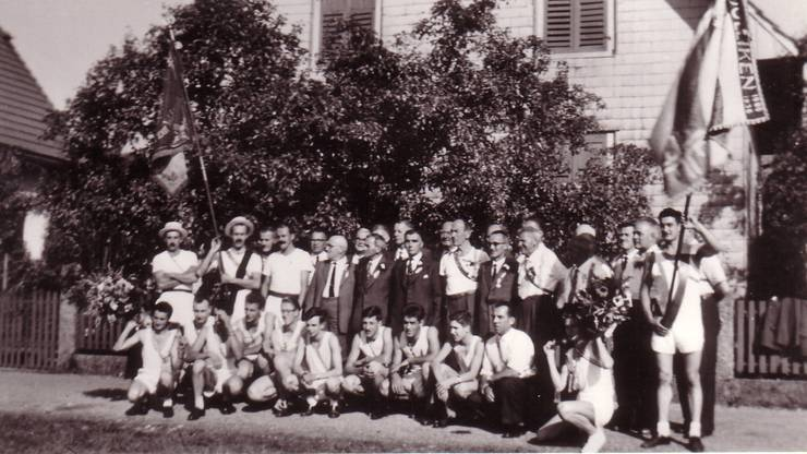 Dieses Foto entstand anlässlich des 50. Jubiläums des Vereins. Gefeiert wurde es 1959.
