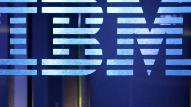 """IBM Logo auf Hardware für Supercomputer """"Watson"""""""