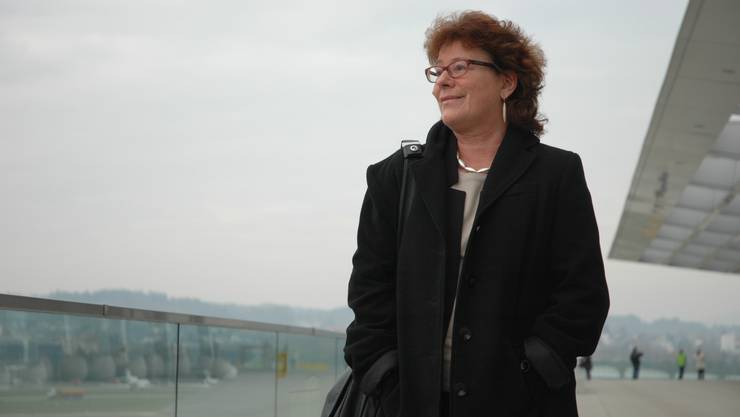Flughafen-Sprecherin Sonja Zöchling auf der von ihrem Team konzipierten Terrasse.