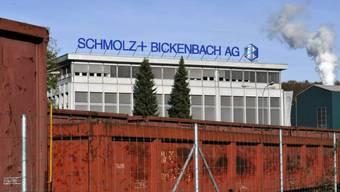 Logo der Stahlfirma Schmolz + Bickenbach in Emmenbrücke (Archiv)
