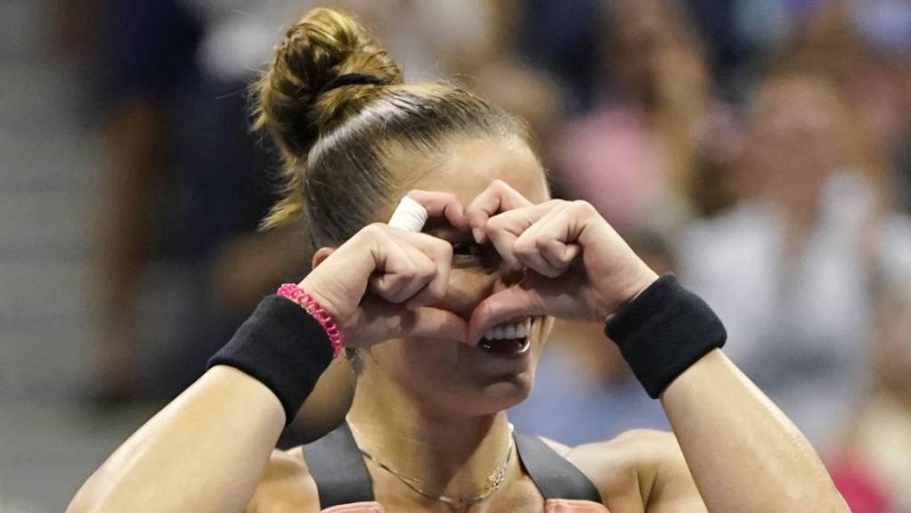 Maria Sakkari schaffte nach dem French Open in Paris auch am US Open den Einzug in die Halbfinals.
