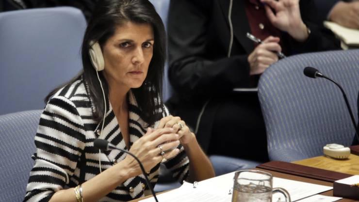 Will nicht, dass ein ehemaliger palästinensischer Regierungschef zum UNO-Sondergesandten für Libyen wird: Nikki Haley, UNO-Botschafterin der USA. (Archivbild)