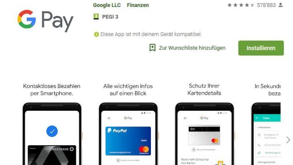 Neu können Schweizer Android-Nutzer die Google-Pay-App herunterladen.