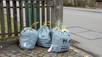 Aufgerissene Säcke an der Strasse zeugen davon, dass das neue Abfallkonzept noch nicht überall angekommen ist.