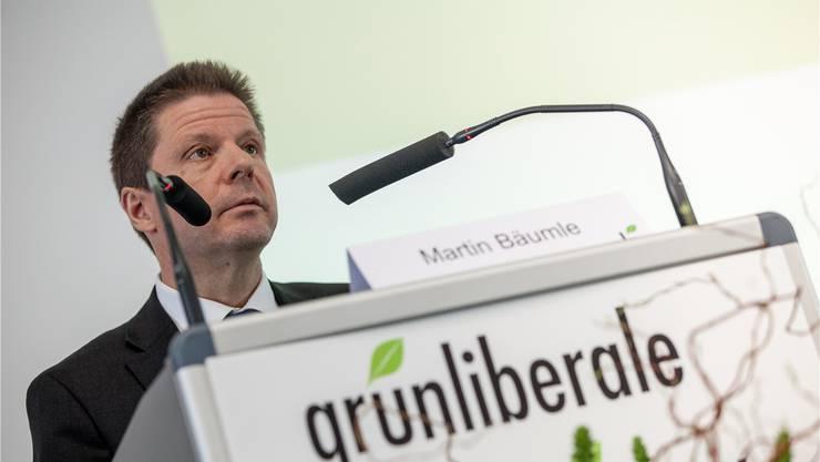 «Die Baselbieter Grünliberalen sind Hoffnungsträger, daran haben auch die enttäuschenden Wahlen nichts geändert»: GLP-Parteichef Martin Bäumle. (Archivbild)