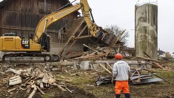 Abriss des alten Bauernhauses