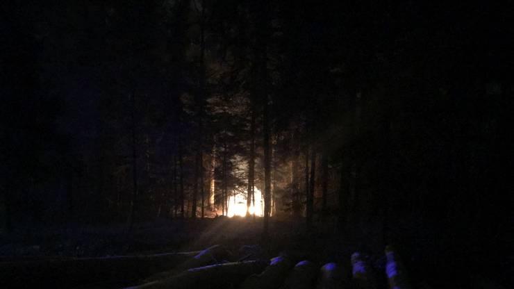Die Hütte brannte lichterloh.