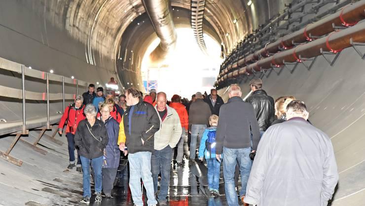 Impressionen vom «Tag des offenen Tunnels» beim Eppenberg