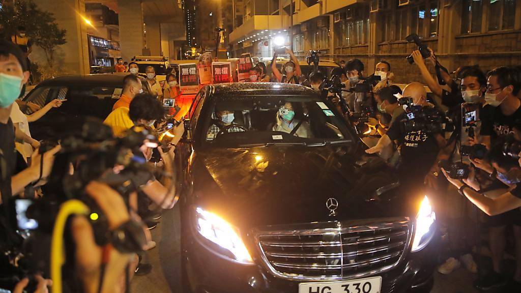 Medienunternehmer Jimmy Lai in Hongkong gegen Kaution wieder frei