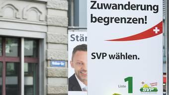 Die SVP punktete bei den Wahlen im Oktober 2015 mit ihren Kernthemen Migration und Asyl. (Archivbild)