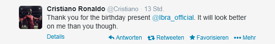 Cristianos Antwort.