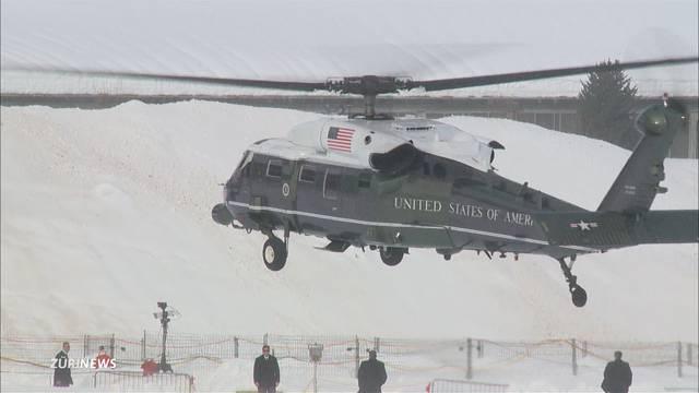 Riesenspektakel: Ankunft des US-Präsidenten