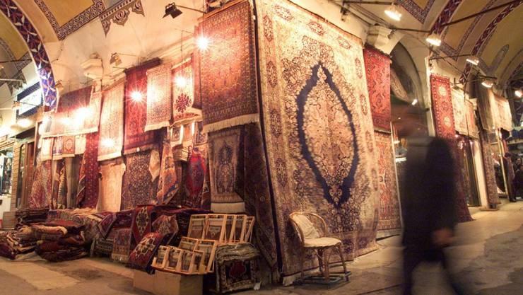 Teile des Grossen Basars in Istanbul wurden überflutet. Der Grosse Basar ist einer der grössten und ältesten überdachten Märkte der Welt. (Archivbild)