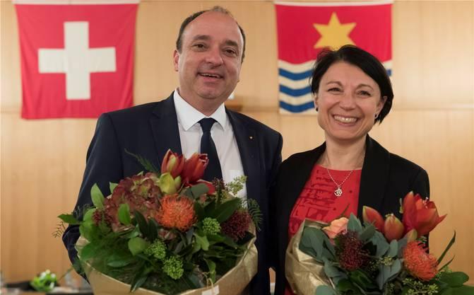 Für Yvonne Feri (SP) und Markus Dieth (CVP) war die Einwohnerratssitzung am Mittwochabend die letzte.