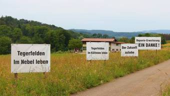Die geplante Erweiterung der Deponie Buchselhalde bewegte in Tegerfelden die Gemüter. Das Thema beschäftigt bis heute.