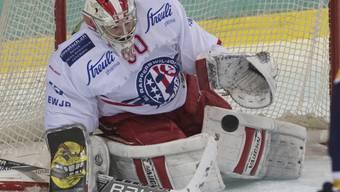 Melvin Nyffeler lässt sich im Swiss-League-Gipfeltreffen mit La-Chaux-de-Fonds nicht bezwingen (Archiv)