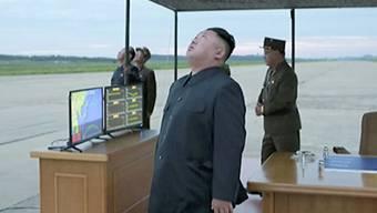 Nordkoreas Machthaber Kim Jong Un bei einem Militäreinsatz (Archiv)