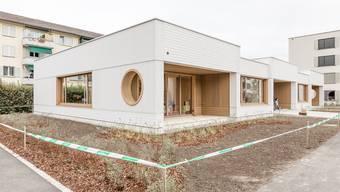 Der im September offiziell eingeweihte Kindergarten Steinmürli ist Minergie-P-Eco zertifiziert, weil die Stadt auf Fernwärme setzte.