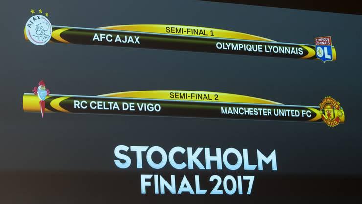 Die Halbfinal-Paarungen der Europa League.